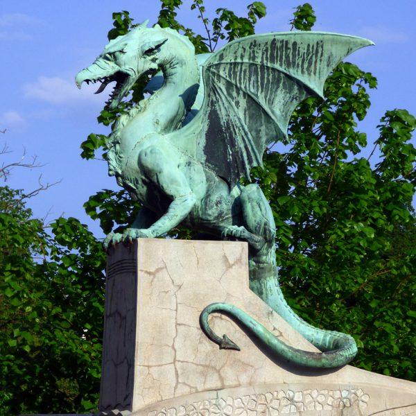 lubiana ljubljanica ponte ponte dei draghi drago slovenia