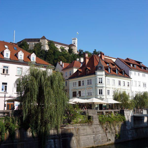 lubiana castello ljubljanica slovenia città vecchia
