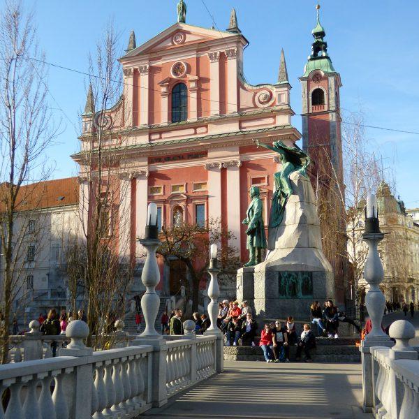 lubiana ljubljanica ponte triplo ponte piazza preseren