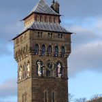 cardiff galles torre castello stile gotico vittoriano