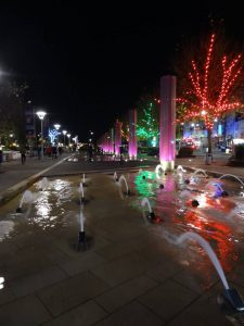 bristol inghilterra waterfront giochi d'acqua con fontane