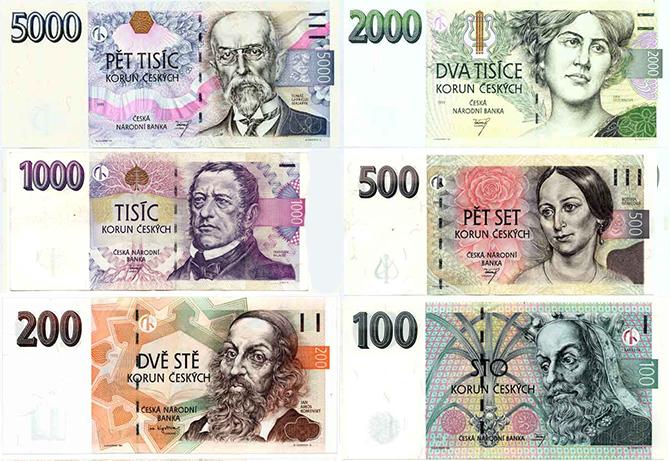 corone ceche moneta repubblica ceca banconote