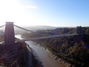 bristol inghilterra ponte sospeso clifton visto dall'alto