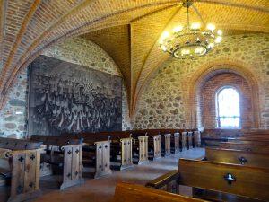 trakai interno castello sala preghiera volte