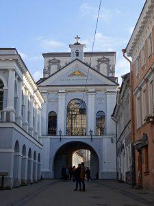 vilnius chiesa porta cittadina dell'aurora