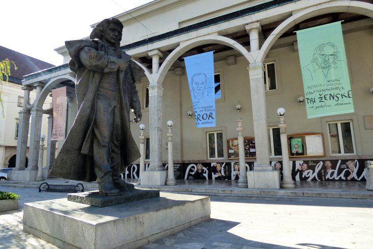 kranj france preseren statua