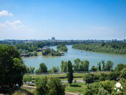 Confluenza di Sava e Danubio vista dalla fortezza di Belgrado