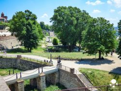 Scalinate e ponti d'ingresso al Kalemegdan lato Danubio, Belgrado