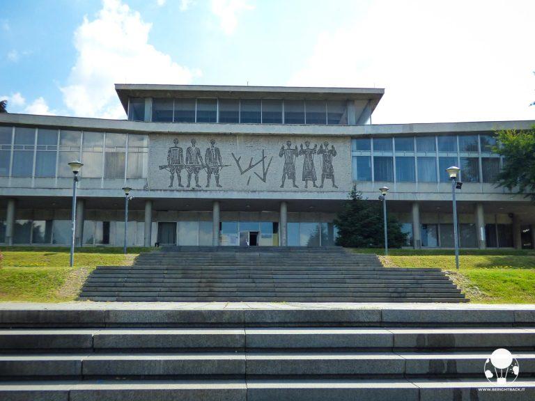 Ingresso al museo della storia della Jugoslavia a Belgrado