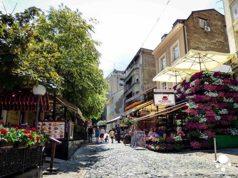 Skadarlija è forse la parte più turistica di Belgrado, ma anche la più colorata