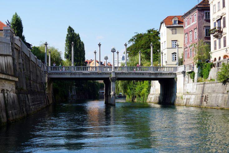 lubiana ponte dei calzolai fiume ljubljanica