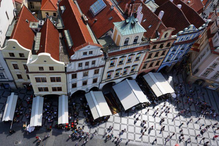 praga piazza della città vecchia repubblica ceca torre orologio