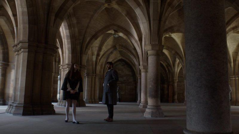 outlander università di glasgow chiostro incontro tra brianna e roger