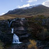 scozia on the road glencoe cascate