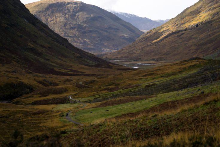 scozia on the road glencoe