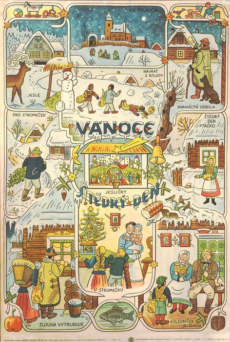 josef-lada-rappresentazione-natale-vanoce-repubblica-ceca-tradizioni-berightback