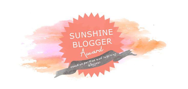 sunshine blogger awards 2018
