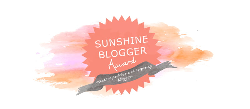 sunshine blogger awards 2018