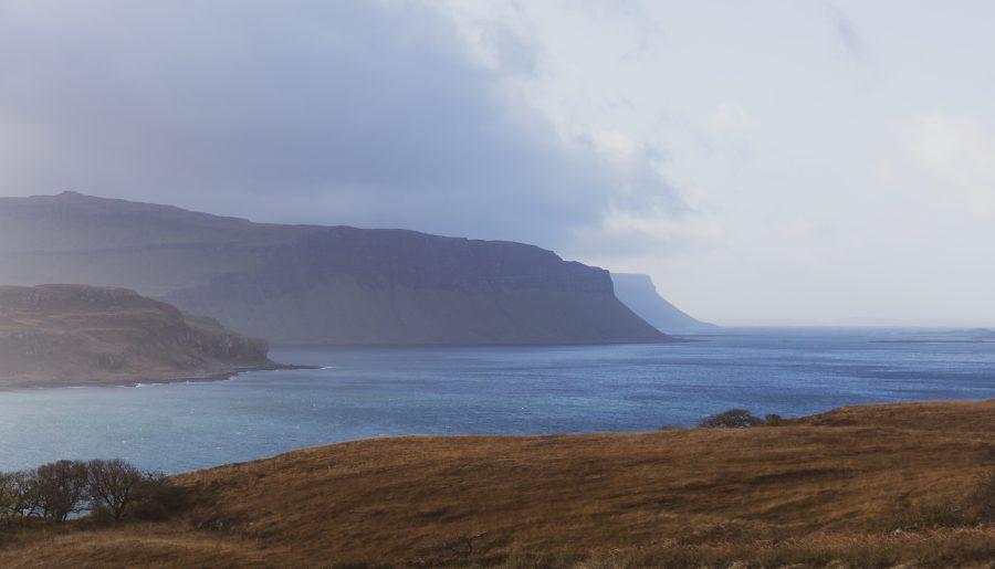Isola of Mull Acharonich vista su Ulva scozia