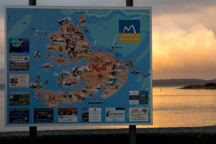 Isola di Mull Craignure scozia mappa isola