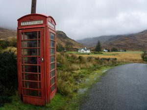 Isola di Mull cabina telefonica rossa red phone boot scozia