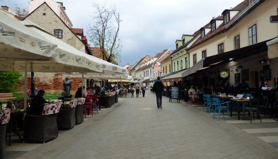 Tkalčićeva ulica strada ristoranti zagabria croazia