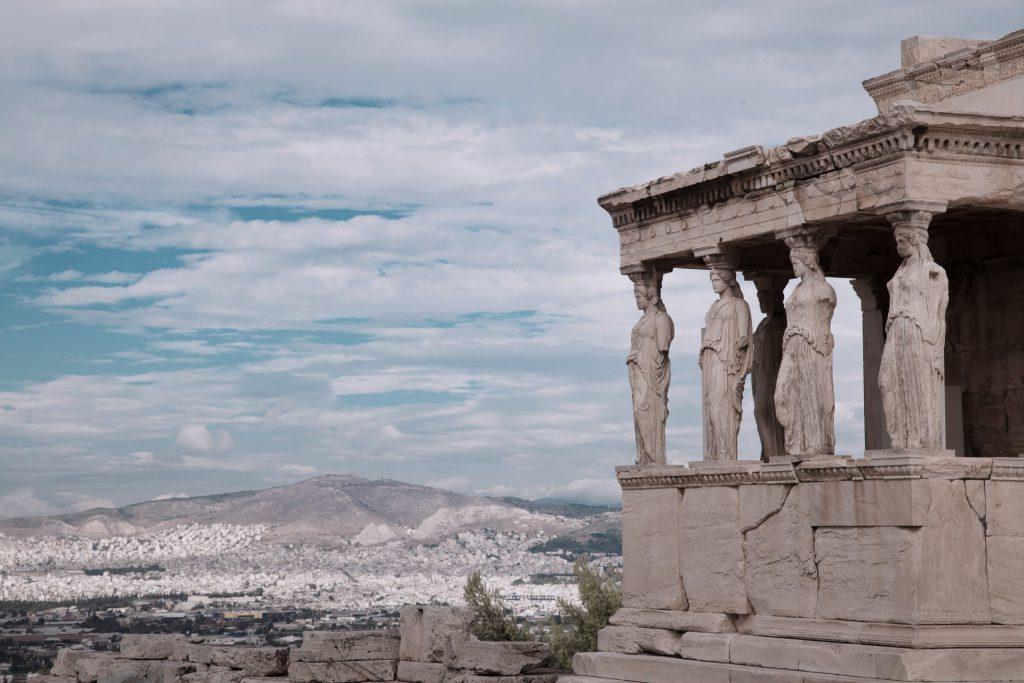 cariatidi acropoli atene grecia