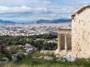 acropoli atene grecia vista sulla città