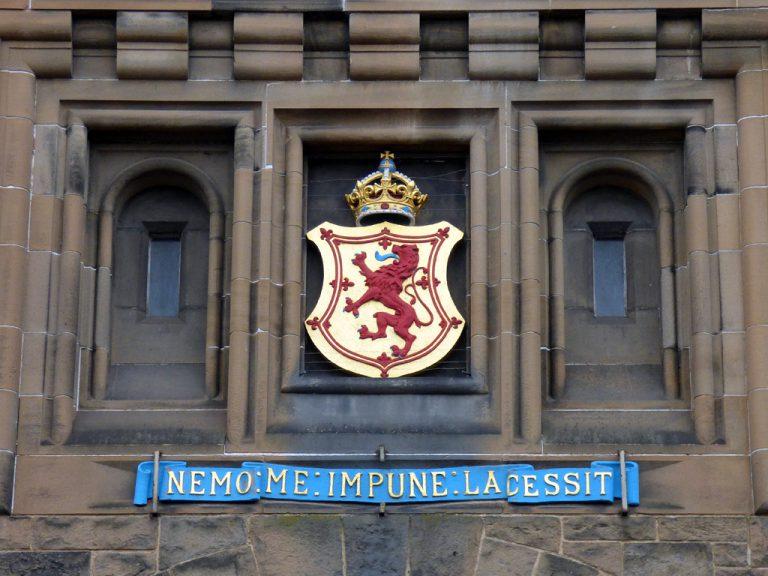 Nemo me impune lacessit motto scozia castello edimburgo