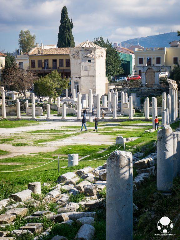 torre dei quattro venti bagni pubblici monastiraki agorà romana