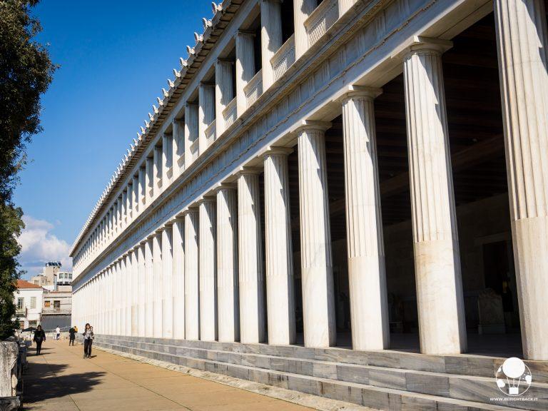 antica agorà di atene galleria colonne stoa attalo platone