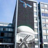 glasgow mural trail strathclyde university telescopio spaziale