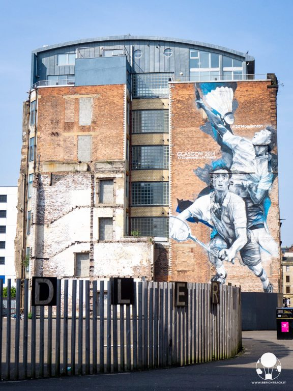 glasgow mural trail badminton giochi commonwealth 2014