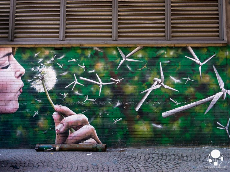 glasgow mural trail turbine eolice tarassaco
