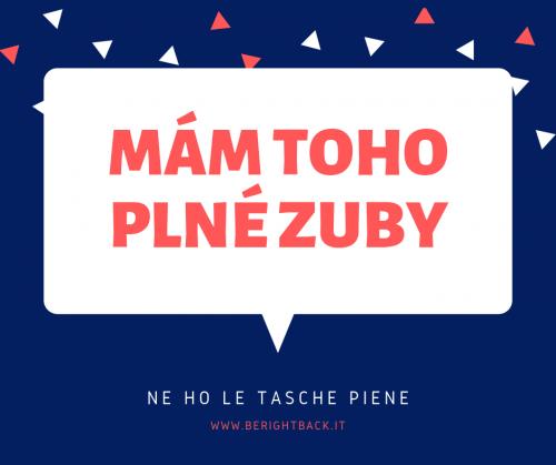 ne ho le tasche piene espressione in lingua ceca