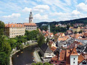 cesky krumlov boemia del sud castello e torre unesco
