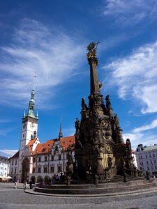 Olomouc moravia colonna santissima trinità e municipio repubblica ceca