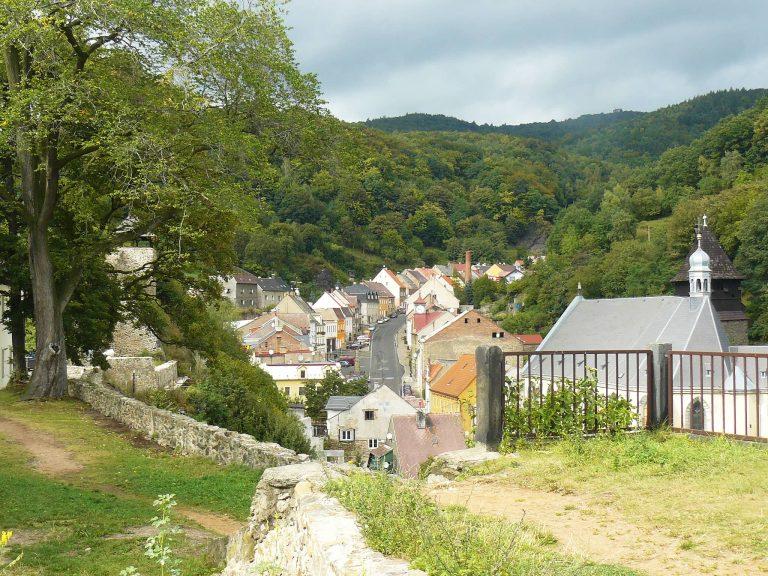 villaggio minerario krupka rifugio goethe repubblica ceca