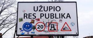 repubblica indipendente uzupio cartello con divieti