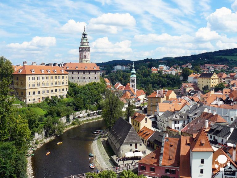 repubblica ceca boemia del sud castello cesky krumlov UNESCO moldava