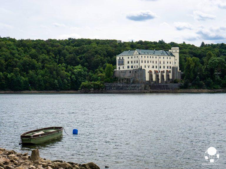 repubblica ceca boemia del sud castello orlik nad vltavou sulla diga moldava