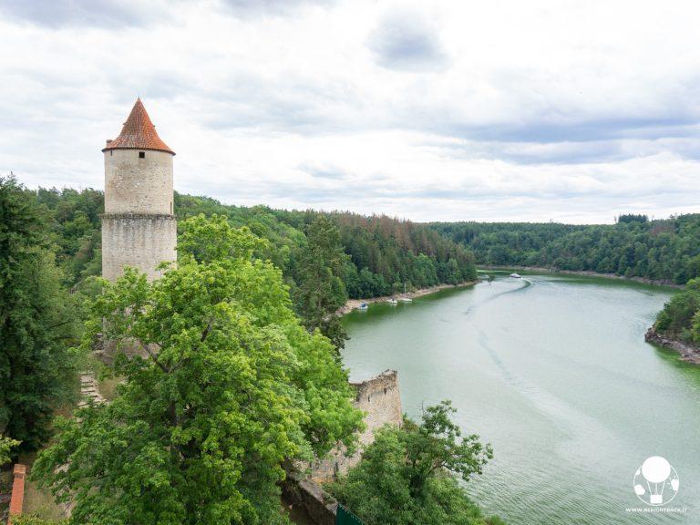 repubblica ceca boemia del sud castello zvikov su fiume moldava e otava