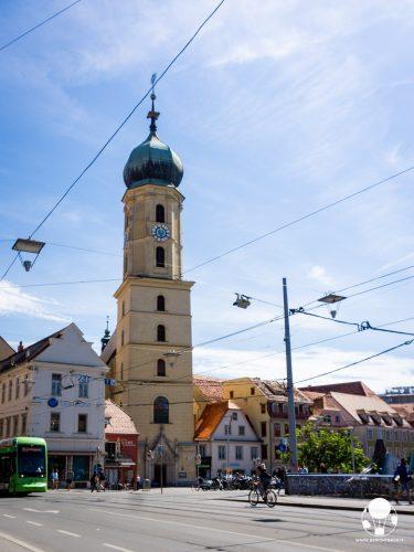 graz austria stiria esterno chiesa francescana monastero