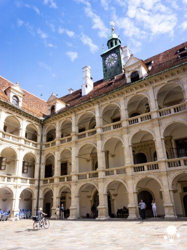 graz stiria austria cortile rinascimentale landhaus parlamento stiria domenico dell'aglio