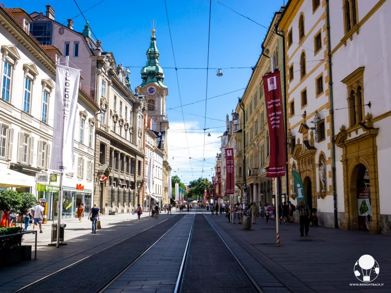 graz stiria austria herrengasse via dello shopping centro informazioni turistiche landhaus