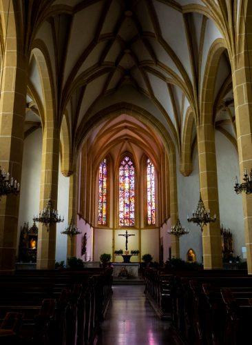graz austria stiria interno chiesa francescana monastero