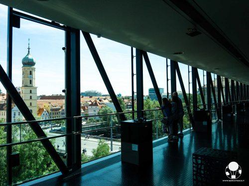 graz stiria austria museo di arte contemporanea kunsthaus needle terrazza panoramica