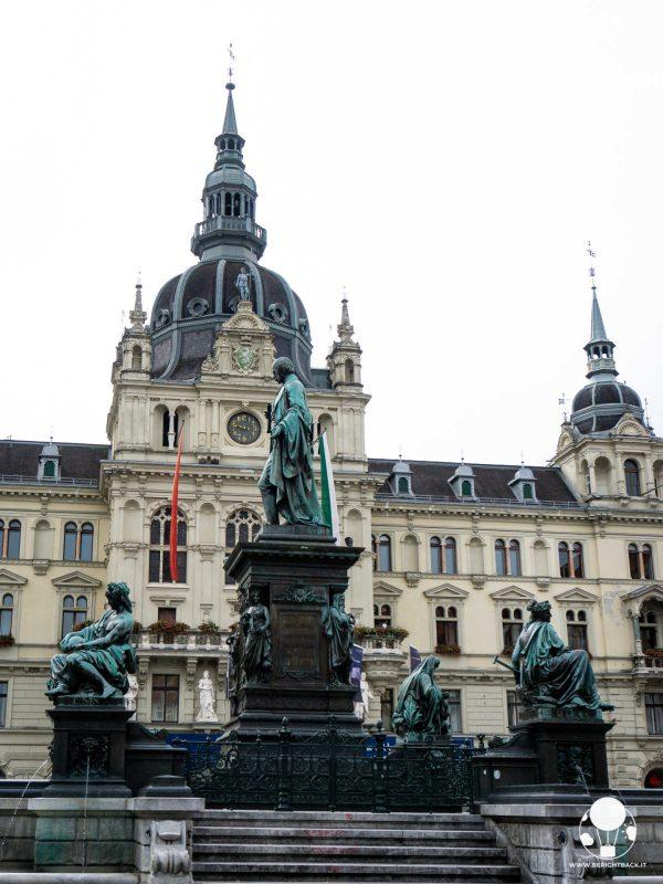 graz austria stiria municipio rathaus e fontana