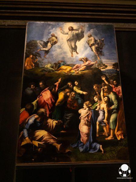 musei vaticani roma raffaello sanzio pinacoteca trasfigurazione cristo