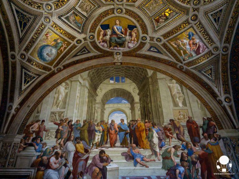 musei vaticani roma raffaello sanzio scuola di atene platone socrate stanze di raffaello